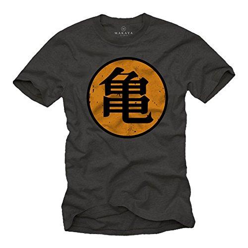 Roshi´s Dragon Gym T-Shirt Son Goku grau Größe XXXL