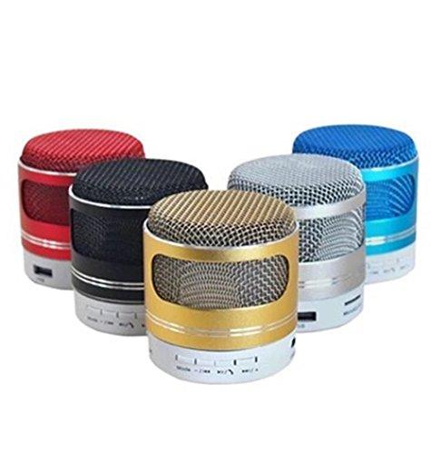 Sencillo Vida Altavoz Bluetooth Mini Inalámbrico Portátiles Sonido Estéreo Premium LED TF Speaker para hogar, Aire Libre, Viajes, Color al Azar