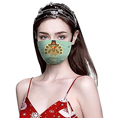 Unisex Womens and Mens Washable and Reusable Face Coverings Balaclavas Thanksgiving Decorations Adults Face_Mask(A25)