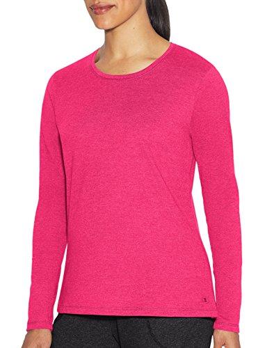 Champion Women's Jersey Long Sleeve Tee, pop Art Pink Heather, X Small