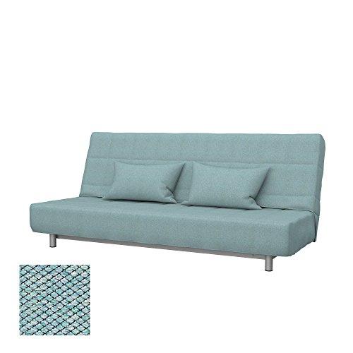 Soferia - IKEA BEDDINGE Funda para sofá Cama de 3 plazas, Nordic Sea Green