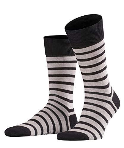 FALKE Herren Socken Even Stripe - Baumwollmischung, 1 Paar, Schwarz (Black 3000), Größe: 43-46