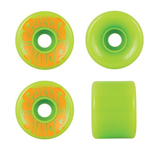 OJ Wheels Super Juice Green / Orange Longboard Skateboard Wheels - 60mm 78a (Set of 4)