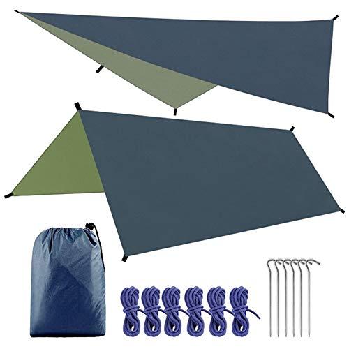 Rfgfd Camping Zelt Tarp Shelter 3 * 3m wasserdichte Schatten Segel Zelt Tarp Sun Shelter Baldachin Hängematte Tarp Regenfliege für Outdoor-Angeln Camping Wandern (Color : Black)