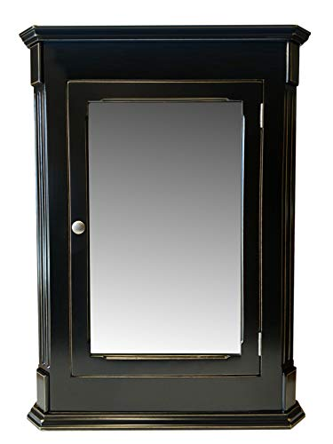 Ludwig Black Vintage Recessed Medicine Cabinet/Solid Wood & Handmade