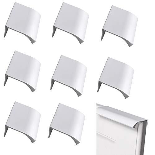 LEZED Armario de Aleación de Aluminio Moderno Armario Tirador de puerta Tiradores para muebles Tiradores cocina Tirador de la manija del Gabinete Tire del Armario Plata Manijas Ocultas 8Piezas (120mm)