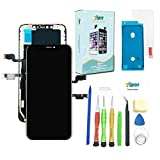Screen Replacement for iPhone Xs MAX (6.5 inch) - 3D Touch TFT LCD Complete Repair kit - Digitizer Display Glass Replacement with Waterproof Adhesive, Tools,Tempered Glass, Instruction