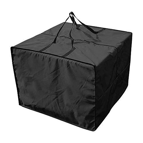 Aufbewahrungstasche für Loungekissen Gartenpolster Kissen Garten Schutzhülle Gartenmöbel Sitzkissen 210D Oxford Wasserdicht Aufbewahrung Tasche mit Reißverschluss und Tragegriff 81x81x61cm (Schwarz)