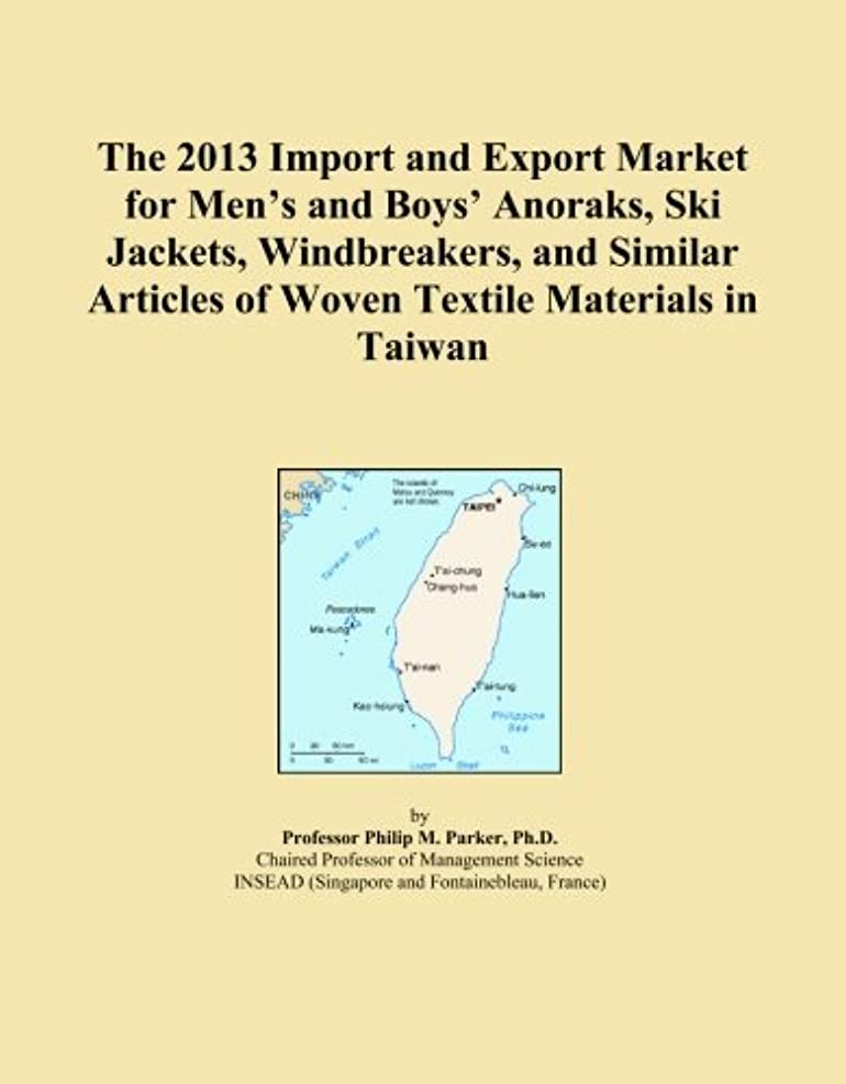 The 2013 Import and Export Market for Men's and Boys' Anoraks, Ski Jackets, Windbreakers, and Similar Articles of Woven Textile Materials in Taiwan