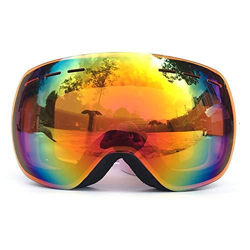 WYYHAA Ski Snowboard Snow Goggles für Männer Frauen/Anti-Fog Over Brille Snowboard Brille Mit UV-Schutz, Windundurchlässig Helm Kompatibel Dual Lens Brille,A