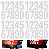 LUTER 4 Sheets 40 Pieces Reflective Mailbox Number Stickers, 0-9 Numbers Sticker Decal for Mailbox, Door, Window, Signs, Cars, Address Number (White, 3 Inch)
