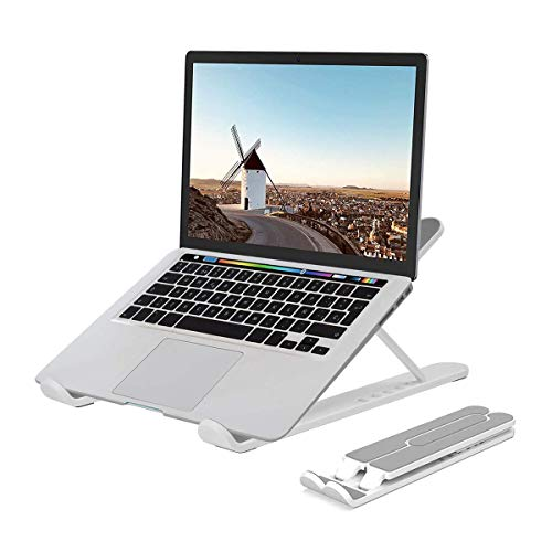 Laptop Tablet Ständer,Notebook Ständer Tragbarer Faltbar Höhenverstellbar, Laptop Halterung Kompatibel Für MacBook 13 15 17 Zoll Pro/Air HP Dell Lenovo Samsung Acer Huawei Alle 10-20Zoll Notebooks