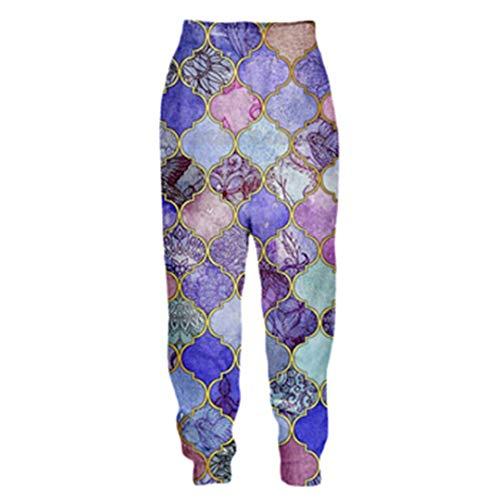 DE-pants-personality Männer 3D Hose Aztec Totem Print Tribal Hintergrund Retro-Stil Casual Joggers Hosen Color as The picture2 4XL
