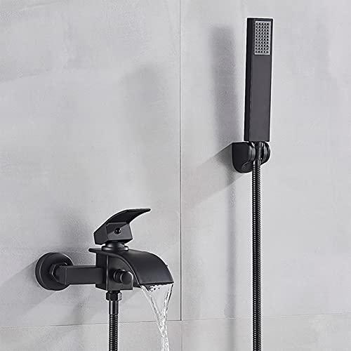 manguera ducha y alcachofa negra Marca GX