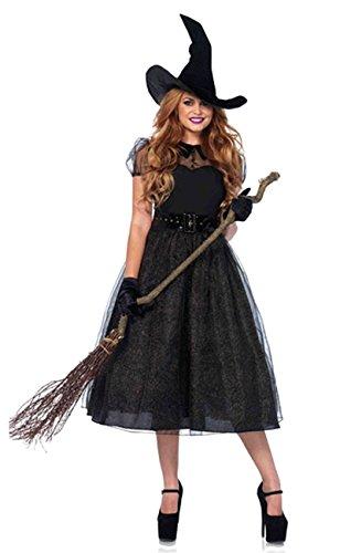 ShallGood Damen Rotkäppchen Halloween Weihnachten Performance Kleid Hoodie Schal Kostüm Pirat Hexe Cosplay Dress Kleid Passt Set Zombie Ghost Kleid Dress Hexe De 34