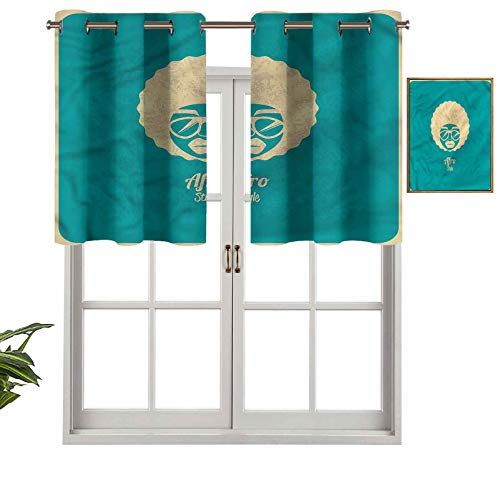 Hiiiman Cenefa de ventana de privacidad para interiores, diseño vintage, silueta de Soul Woman, juego de 2, 137 x 91 cm para puerta corredera de patio o comedor
