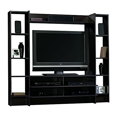 Sauder Beginnings Entertainment Wall System, Cinnamon Cherry finish