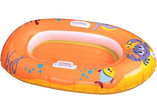 Unbekannt BESTWAY Wasser Schlauchboot Kinder 119 x 79 cm Orange gelb