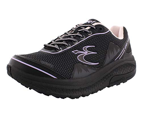 Gravity Defyer Pain Relief Women's G-Defy Mighty Walk Athletic Women's Walking Shoes 8 W US - Diabetic Shoes for Plantar Fasciitis - Black, Purple