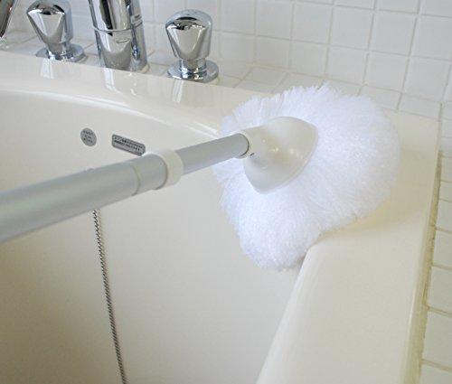 山崎産業お風呂掃除ブラシ伸縮ユニットバスボンくん抗菌ホワイト174966