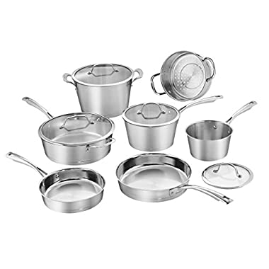 Cuisinart 72I-11 Conical Cookware Set, Medium, Stainless Steel