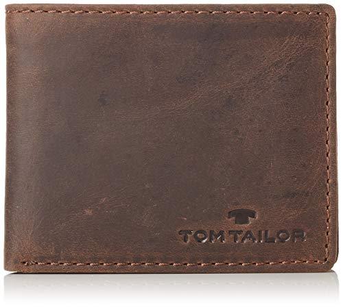 TOM TAILOR Geldbörse Herren, Ron, Braun, 10.5x8.5x1.5 cm, Geldbeutel Männer