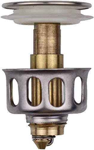 Luckyall Universal-Waschbecken-Absprungfilter, Pop-Up-Abflussschraube für Waschbecken mit Korbdurchmesser 35 mm Küchensiebschutz für Abfluss in der richtigen Größe