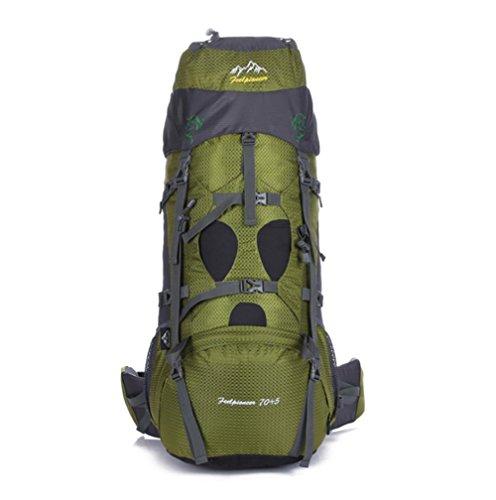 SZH&BEIB Sac à dos de randonnée très grande capacité 70 + 5L pour le sac de camping Voyage en plein air en nylon imperméable , D