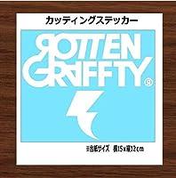 【③白】ROTTENGRAFFTY ロットングラフティ カッティング ステッカー