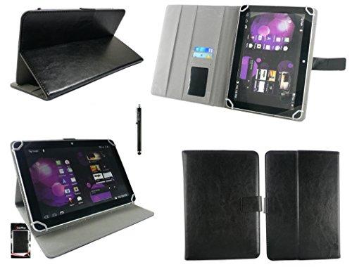 emartbuy® Odys Maven 10 Pro Plus 3G Tablet PC 10.1 Zoll Universalbereich Schwarz Multi Angle Exekutiv Folio Mappen Kasten Abdeckung mit Kartensteckplätze + Schwarz Eingabestift