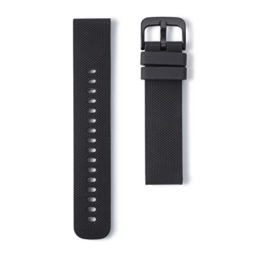 Wristology Quick Release Easy Change Replacement Soft Silicone Rubber Watch Band Strap for Men Women 18mm (Black)