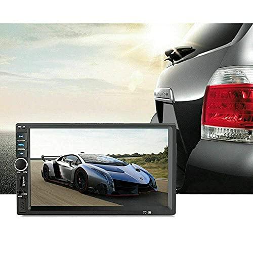 Autoradio 2 din 7'con touchscreen per auto Lettore MP5, monitor, Bluetooth, Android Auto, lettore MP3, porta USB, ingresso Aux, autoradio FM