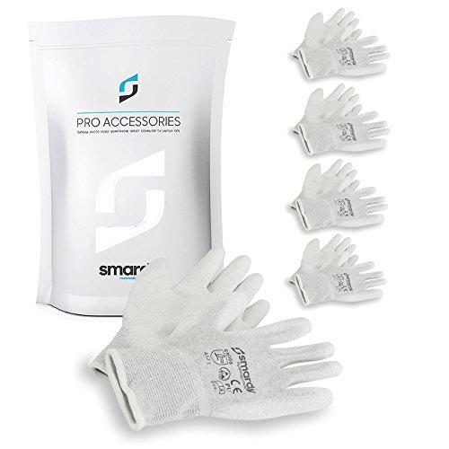 smardy 5 Paar antistatische ESD - Handschuhe | Touchscreen - fähig Größe 10 (XL) | für bequemes Arbeiten und Reparaturen an sensiblen Geräten oder Elektronik