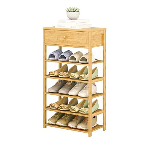 ZJUN Zapato de Madera Multicapa Rack de Almacenamiento en Rack Simple con cajones a Prueba de Polvo del hogar Estantes Asamblea multifunción 4 tamaños (Size : 5-Tier)