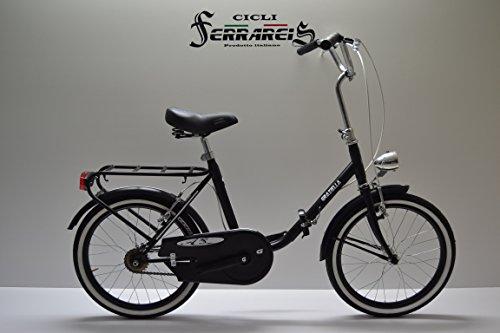 Bici Bicicletta graziella Pieghevole Passeggio Uomo Donna Modello da 20 Nera Bianca Personalizzabile