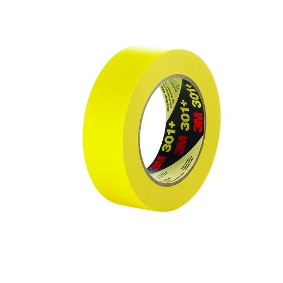 3M Performance Yellow Masking Tape 301+, 36 mm x 55 m (Case of 24)
