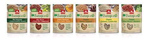 Benessere Box Arnaboldi - Mix di 6 Ricette Naturali di Agricoltura Biologica con Zuppa, Grano Saraceno, Riso Integrale e Rosso [12 Confezioni Totali]