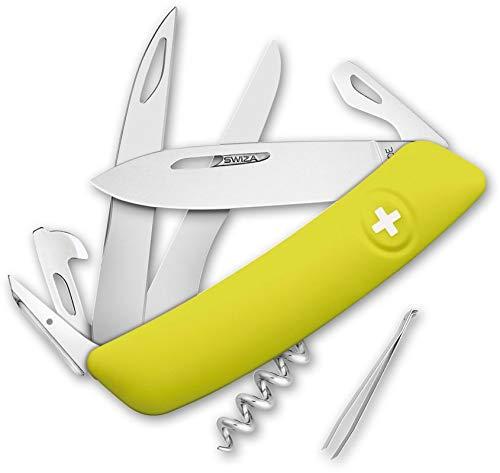 Swiza Herren D07 Taschenmesser, gelb, 17 cm
