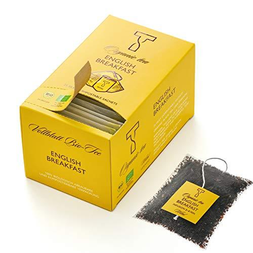 WITAL TEE - ORGANIC ENGLISH BREAKFAST - Schwarzer Tee - 25 Plastikfreie Teebeutel aus bio PLA