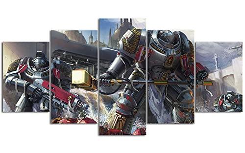 YLAXX Papel Pintado con Estampado de Warhammer, Lienzo, Arte de Pared, Pinturas para Pared, impresión de Oficina, Arte, Retrato, decoración, 150x80 cm, Pintura sin Marco