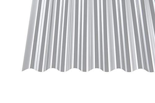 Acryl Wellplatten Profilplatten Sinus 76/18 klar ohne Struktur 1,5 mm (3500 x 1045 x 1,5 mm)