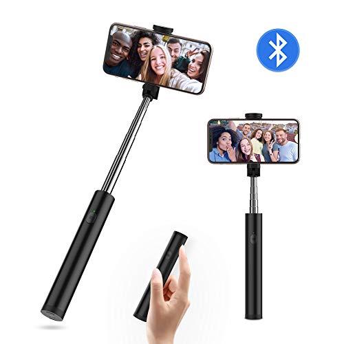 Yoozon Bastone Selfie Stick Bluetooth,Mini Selfie Stick Monopiede Estensibile con Telecomando Bluetooth Integrato,Asta Selfie con Bluetooth Remote Shutter,Adatto per iPhone, Samsung, Huawei,ECC