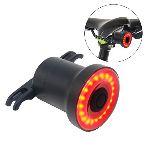 Luz de Cola Para Bicicleta Inteligente - Ultra Brillante - Sensor LED Recargable Resistente al Agua - Lámpara de Advertencia...