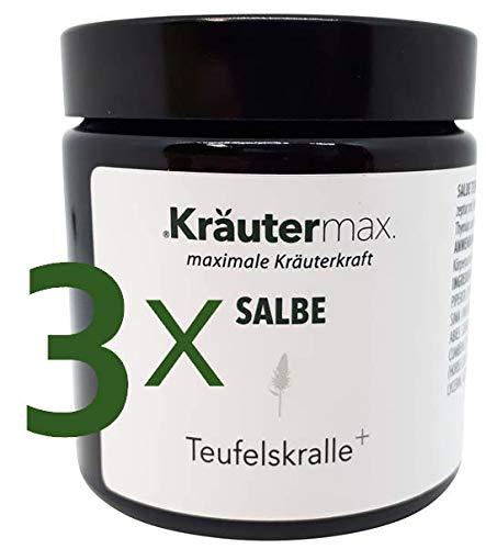Kräutermax Teufelskralle Salbe Gel 3 x 100 ml Extrakt hochdosiert