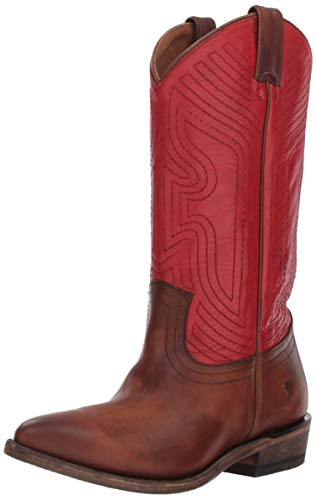 FRYE Women's Billy Stitch Pull On Western Boot, red/Multi, 8.5 M US