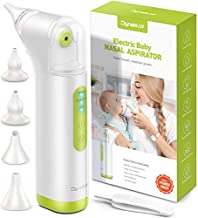 Baby Nasal Aspirator for Baby, DynaBliss Electric Baby Nose Sucker Rechargable Snot Sucker for Newborn and Infants,Mucus Booger Remover with 4 Silicone Tips and Adjustable Suction Power