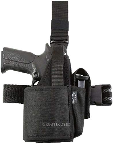 Craft Holsters Glock 40 Compatible Holster - Nylon Tactical Holster for Gun w Light/Laser (551)