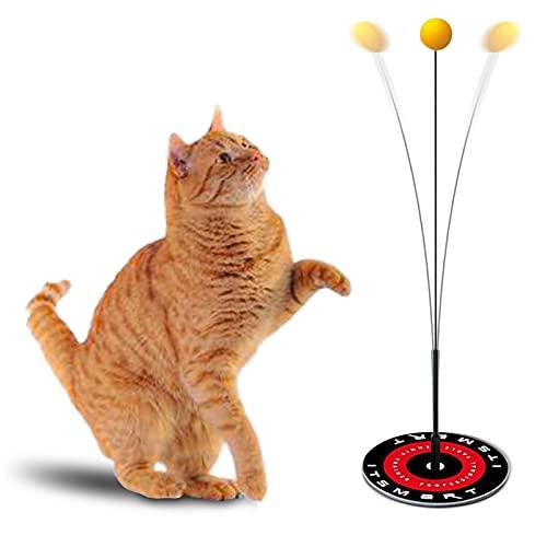 Fantsccy Interaktives Katzenspielzeug Spielzeug,Katzenspielzeug Set für Kätzchen und Katzen Tischtennis-Spielzeug Cat Toy Kitten Katzenspielzeug Intelligenz Katzenball