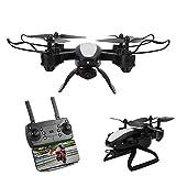 RC Drone, Quadcopter Fotografía aérea HD 5MP Helicóptero con Control Remoto para Juguete RC al Aire Libre(Black)
