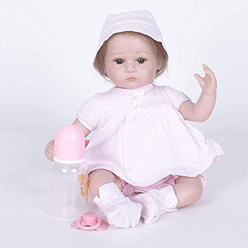 DFJU Muñecas Reborn, Rebirth para niños, simulación de bebé, muñecas de Renacimiento, extremidades de Silicona, 42 cm / 17 Pulgadas, Juguete de Regalo, 42 cm